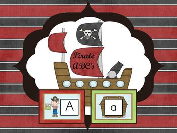 Pirate Alphabet Cards and Charts (D'Nealian and Zaner-Blos