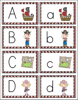 Pirate Alphabet Cards and Writing Book