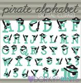 Pirate Alphabet Clip Art Images