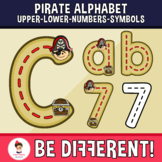 Pirate Alphabet Clipart Letters ENG.-SPAN. (U.-L.-N.-S.) (Guided Set)