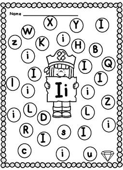 Pirate Alphabet Dab it