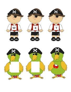 Pirate Alphabet Letter Match
