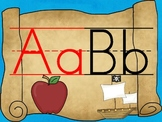 Pirate Alphabet Posters (2 Fonts, Including D'Nealian)
