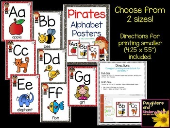Pirate Alphabet Letter Posters