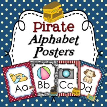 Pirate Alphabet Posters A - Z