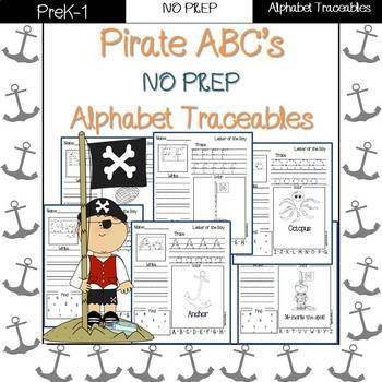 Pirates ABC: alphabet traceables NO PREP
