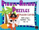 Pirate Animal Puzzles Long Vowel U Teams  Puzzle Cards Teacher Appreciation Free