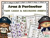 Area & Perimeter Differentiated Task Cards - Pirate Theme