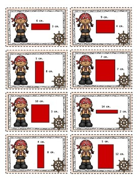 Area & Perimeter Differentiated Task Cards - Pirate Theme