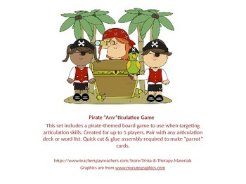 """Pirate """"Arrr""""ticulation Board Game"""