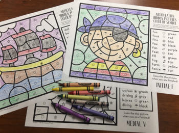 Pirate Articulation Color by Symbol: A Speech Therapy Activity