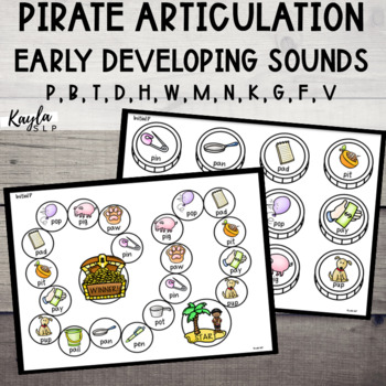 Pirate Articulation {Early Developing Sounds}