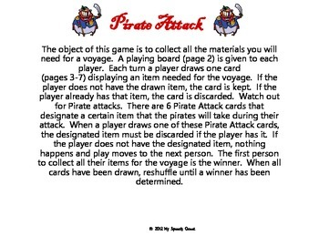 Pirate Attack Card Game