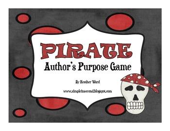 Pirate Author's Purpose Game