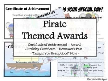 Pirate Awards Set