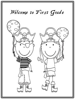 Pirate Back-To-School Mini-Set: Writing Template and Coloring Pages