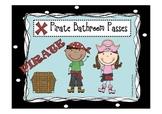 Pirate Bathroom Passes