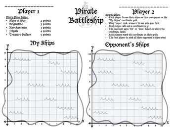 Pirate Battleship (5.GA.1) (6.NS.6c)