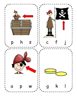 Pirate Beginning Sounds Reading Center