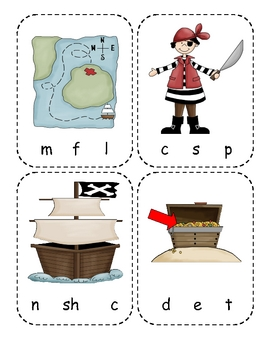 Pirate Beginning Sounds Reading Center