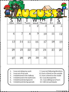 Pirate Behavior Calendars (EDITABLE) 2107-2018