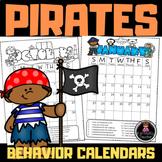 Behavior Calendars (EDITABLE) 2020-2021: PIRATE THEME