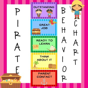Classroom Decor Pirate Behavior Clip Chart