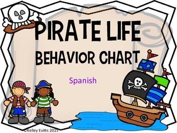 Pirate Behavior Chart in Spanish!