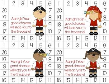 Pirate Behavior Punch Card