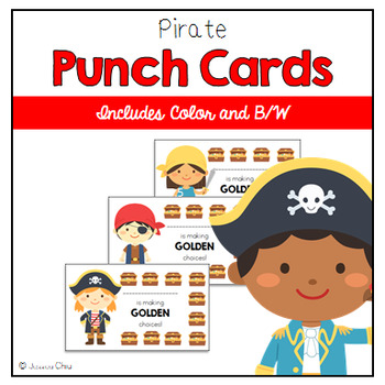 Pirate Behavior Punch Cards