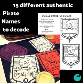 Pirate Binary Coding Unplugged Talk Like a Pirate Day