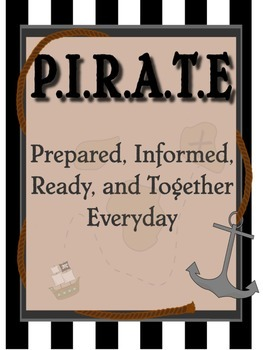 Pirate Binder Cover/ Inspirational Print