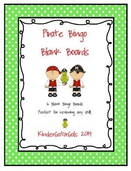 Pirate Bingo (Blank Game Boards)