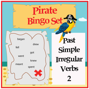 Pirate Bingo - Irregular Verbs in Past Simple 2