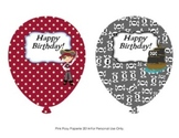 Pirate Birthday Balloons - 6 different designs