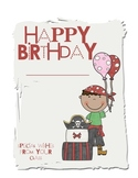 Pirate Birthday Book