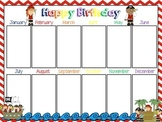Pirate Birthday Chart (Editable)
