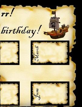 Pirate Birthday Chart