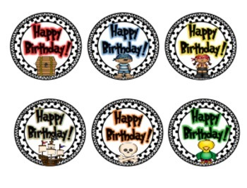 Pirate Birthday Crazy Straw Tags