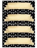 Pirate Black polka dots Multipurpose labels