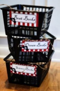 Classroom Decor Pirate Book Basket Labels