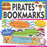 Pirate Bookmarks, Shelf Markers or Desk Name Plates - EDITABLE