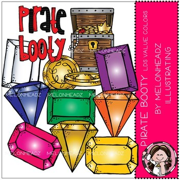 Pirate Booty clip art - COMBO PACK - LDS value colors - by Melonheadz