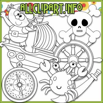 BUNDLED SET - Pirate Boy Clip Art & Digital Stamps Bundle