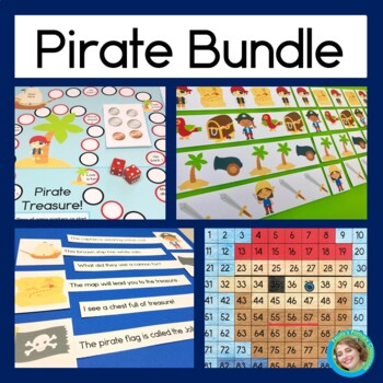 Pirate Bundle: Reading Center, Coin Counting, Patterning a