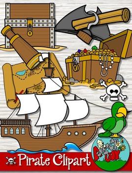 Pirate Clipart Bundle Set