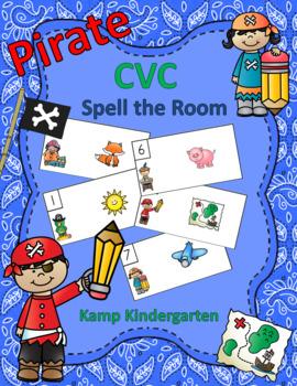 Pirate CVC Spell the Room