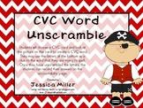 Pirate CVC Word Unscramble