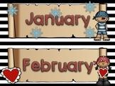 Pirate Calendar Headers