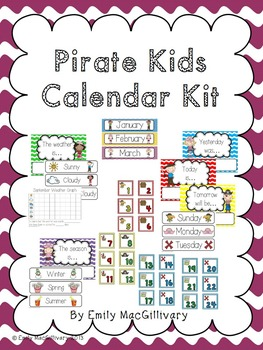Pirate Calendar Kit